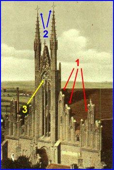 Kościół z przebudowaną fasadą zachodnią