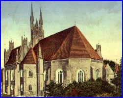 Widok ogólny na bryłę kościoła