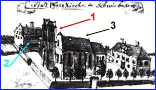 Kościół z masywną wieżą